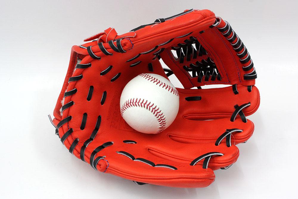 最終マックスSALE ハイゴールド 硬式用 グローブ WKG-1064 Fオレンジ 技極プロレザー ハイゴールド最高峰 二遊間用 サイズC-3 高校野球対応