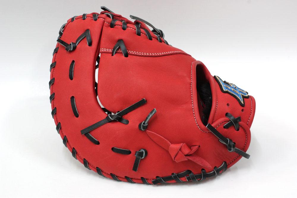 ハイゴールド 2021年NEWモデル 少年軟式用ファーストミット RKG-198F Rオレンジ サイズ普通 4年生くらいまで向け ルーキーズ 少年用 軟式用 一塁手用