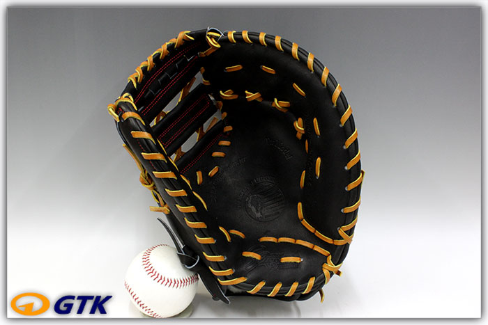久保田スラッガー FP-INB ブラック 硬式用ファーストミット 名手INABAのヨコトジ化モデル エッジ付きウェブがかっこいいミットです【グローブ 野球 硬式 型付け無料 高校野球対応】