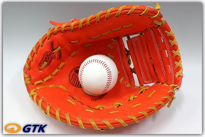 久保田スラッガー FP-INB Fオレンジ 硬式用ファーストミット 名手INABAのヨコトジ化モデル エッジ付きウェブがかっこいいミットです【グローブ 野球 硬式 型付け無料 高校野球対応】
