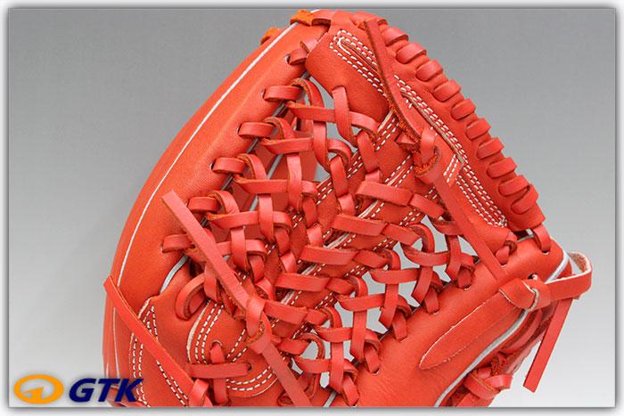 久保田スラッガー KSN-J4 Fオレンジ 少年軟式用グラブ ジュニア用では大き目サイズモデル 内野向けのオールラウンドモデル【グローブ 野球 子供 軟式 型付け無料 GTK】