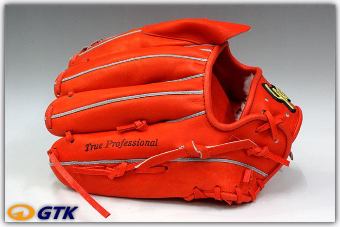 久保田スラッガー KSG-K65 Fオレンジ×Fオレンジ紐 K7ラベル 硬式投手用グラブ 24PSと同じポケットを持つ内野ベースの投手用  【グローブ 野球 硬式 型付け無料 高校野球対応】