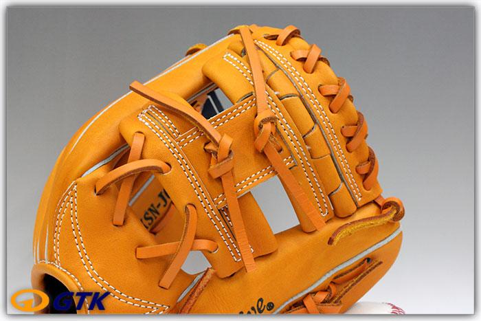 久保田スラッガー KSN-J6 オレンジ 少年軟式用グラブ ジュニア用では中間サイズモデル エッジ付きウェブの内野向けモデル【グローブ 野球 子供 軟式 型付け無料 GTK】