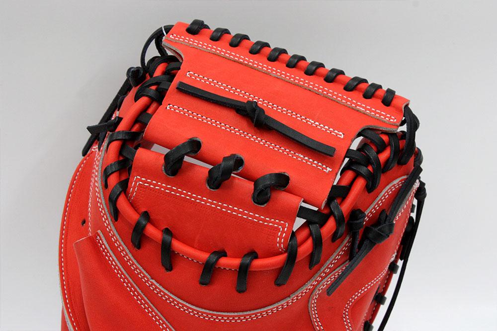 久保田スラッガー 硬式キャッチャーミット KCX Fオレンジ 硬式用キャッチャーミット やや大きめ広く深いポケット