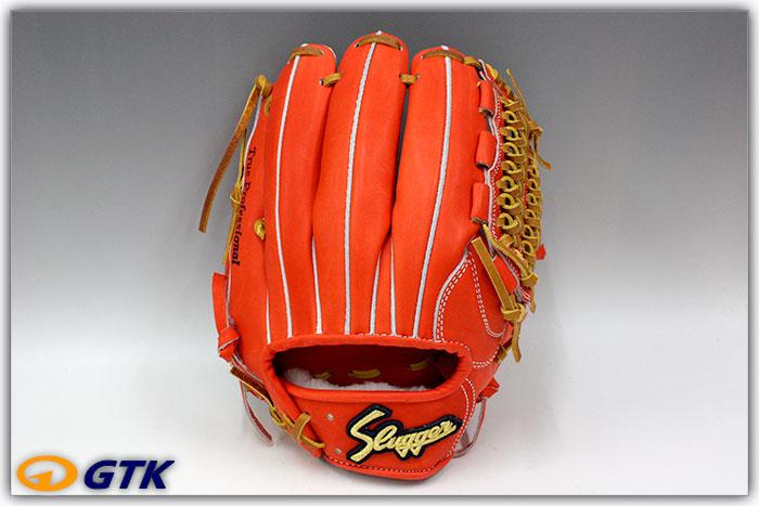 久保田スラッガー KSG-MS1 Fオレンジ K7ラベル 硬式内野手用グラブ セカンド・ショート手 入れ部を小さくしフィット感を高めたミドルサイズ商品です  【グローブ 野球 硬式 型付け無料 高校野球対応】