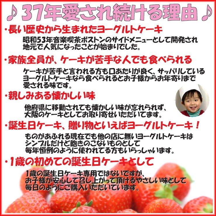 阪ヨーグルトケーキ  花2個デコ 大6号 / 18cm