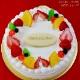 バースデーケーキ 誕生日ケーキ  リースP付 生クリーム 6号 / 18cm