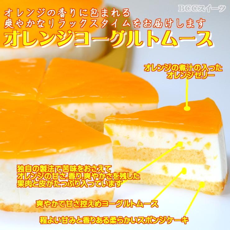 バースデーケーキ 誕生日ケーキ 5号P動物2オレンジヨーグルトムースケーキ