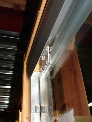 ガラスドア 強化ガラス 両開き 引き戸 クリア・透明 【幅160×高200×厚み7.5cm】 INK-JXP902A