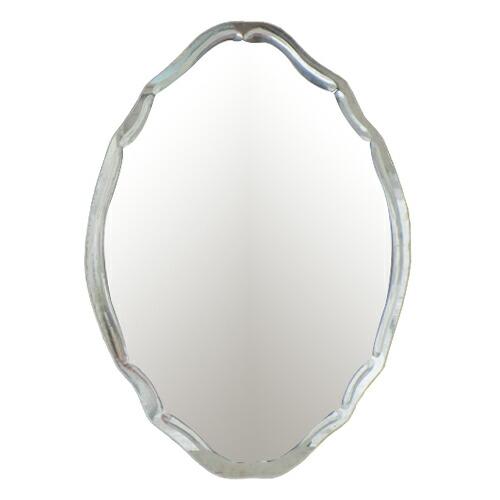 ミラー 鏡 壁掛け 洗面鏡 オーバル シンプル 幅48.5×高68cm INK-0701016H