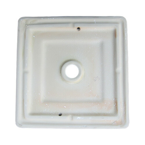 洗面ボウル セット 単水栓 陶器 オンカウンター スクエア [幅38×奥行38×高13.5cm] B-0402017Hjset