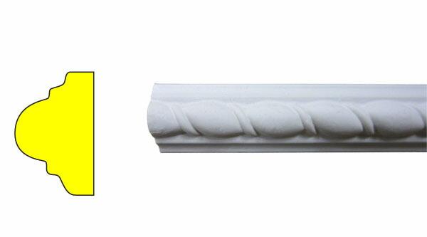 モールディング 装飾 デコラティブ巾木タイプ 室内・外装材 [長さ240×高2.5cm] INK-1302001G