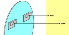 シンプルミラー オーバル [幅45×高60cm] JY01-450