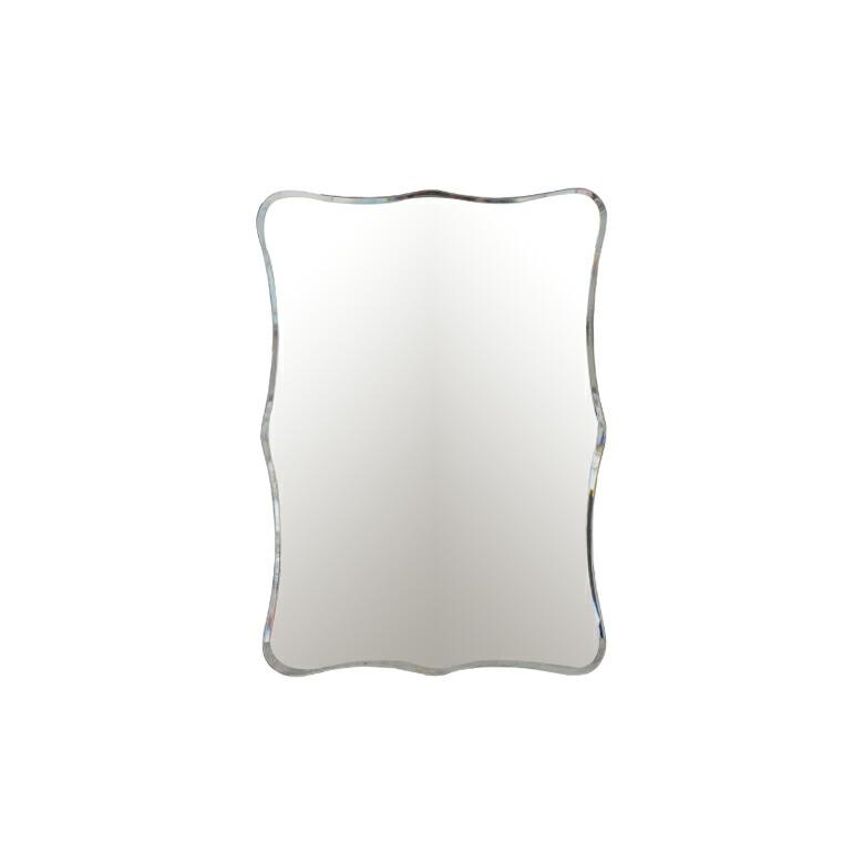 ミラー 鏡 壁掛け 洗面鏡 スクエア シンプル 幅48×高68cm INK-0701018H