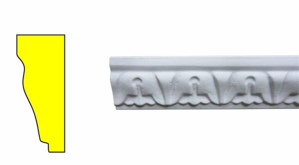 モールディング 装飾 デコラティブ巾木タイプ 室内・外装材 [長さ240×高3.2cm] INK-1302002G