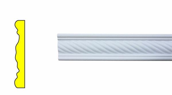 モールディング 装飾 デコラティブ巾木タイプ 室内・外装材 [長さ240×高6cm] INK-1302003G