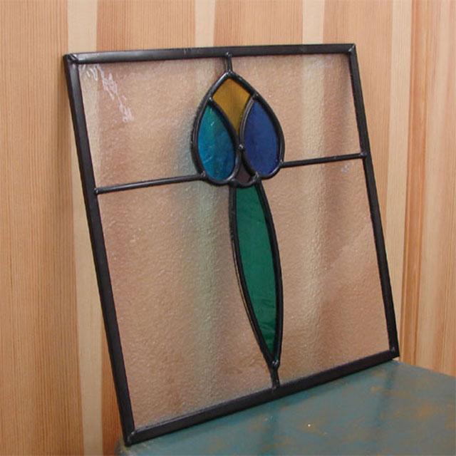 ステンドグラス アイアン 幅30cm INK-Sglass6