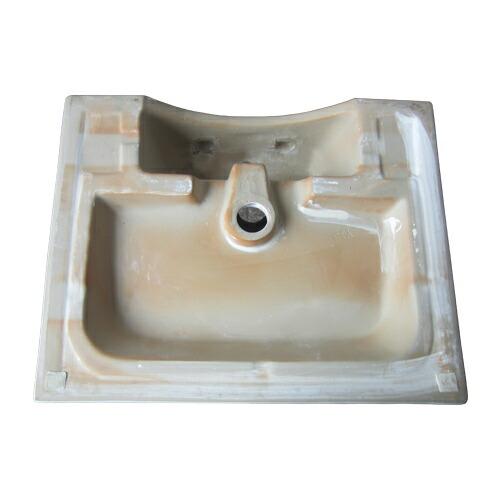 洗面ボウル おしゃれ 白 ホワイト リフォーム 改装 DIY 陶器製 新生活 大きい 大型 置き型 オンカウンター 四角型 スクエア 幅57cm INK-0402023H