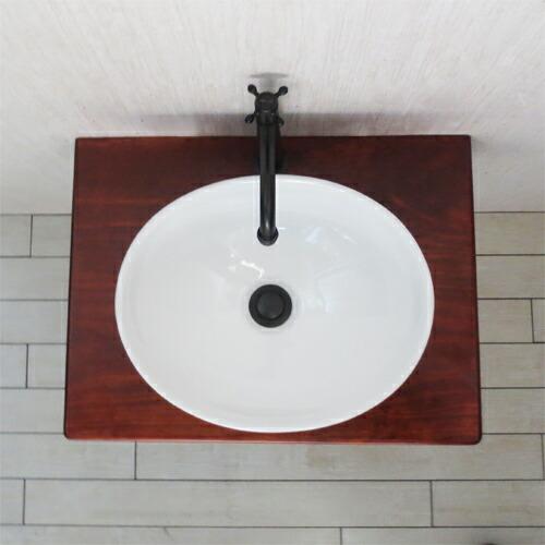 洗面台 洗面化粧台 洗面ボウル+洗面台+単水栓+プッシュ式排水栓+トラップ 5点セット SMP-11 INK-0504092HKset
