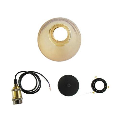 照明 天井 ペンダントライト ブラウン ガラス おしゃれ LED電球対応 幅18.5×奥行18.5×高120cm INK-1002047H