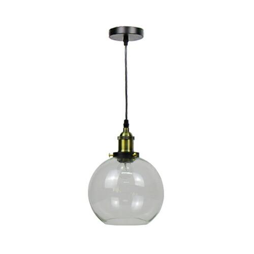 照明 天井 ペンダントライト クリア ガラス おしゃれ LED電球対応 幅19.5×奥行19.5×高131.5cm INK-1002048H