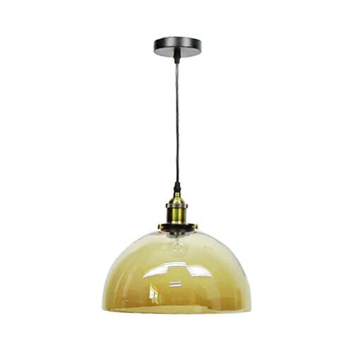 照明 天井 ペンダントライト ブラウン ガラス おしゃれ LED電球対応 幅30×奥行30×高128cm INK-1002053H
