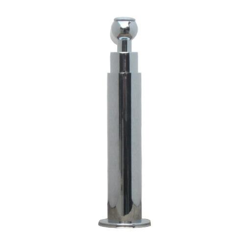 洗面水栓 蛇口 水栓金具 単水栓 シングルレバーハンドル 陶器 シルバー(銀) 奥行16×吐水口高9cm INK-0302055HT