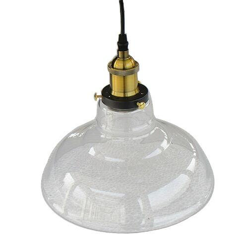 照明 天井 ペンダントライト クリア ガラス おしゃれ LED電球対応 幅27.5×奥行27.5×高128cm INK-1002054H