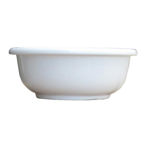 洗面ボウル 陶器 オーバーカウンタータイプ 埋め込み ラウンド 幅30cm INK-0405051H