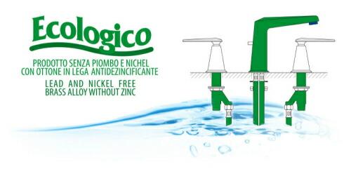 イタリア製 Nicolazzi ニコラッツイ 高級水栓金具 洗面水栓 混合水栓 蛇口 3308【受注生産】