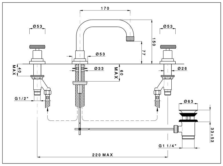 イタリア製 Nicolazzi ニコラッツイ 高級水栓金具 洗面水栓 混合水栓 蛇口 3318