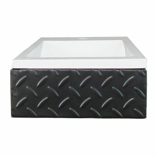 洗面台 洗面化粧台 人工大理石製洗面ボウルの3点セット ホワイト 縞鋼板 幅55×奥行28×高12cm INK-0502027H-w