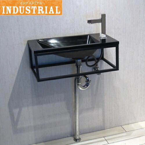 洗面台セット 壁付け 人工大理石 洗面ボウル+洗面台+単水栓+排水栓+トラップ 5点セット 幅55×奥行28×高20cm IDS-9 INK-0502025Hset-b
