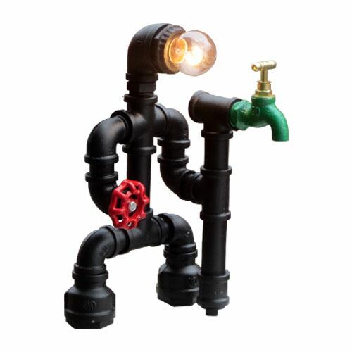 照明 置き型 ランプ ガス管 アイアン 【幅18.5×奥行20×高31cm】 INK-1005001H
