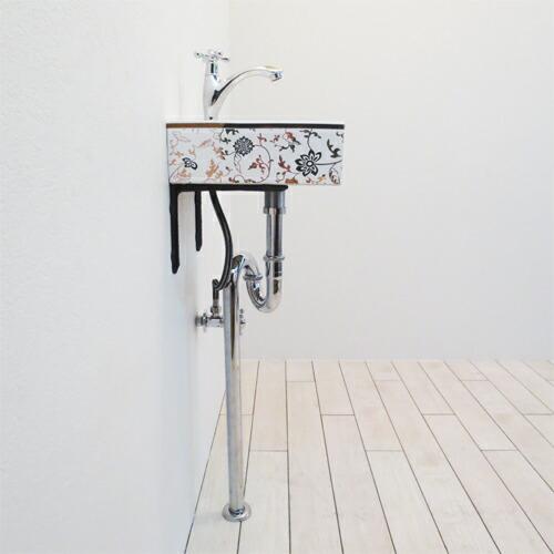 洗面台5点セット 壁付け 幅30×奥行29cm Eセット75 INK-0403256Hset