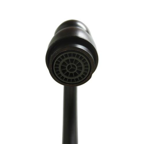 洗面水栓 蛇口 水栓金具 単水栓 シングルレバーハンドル 陶器(スパウト可動式) ブラック(黒) 奥行18.5×吐水口高16.5cm INK-0302043HT