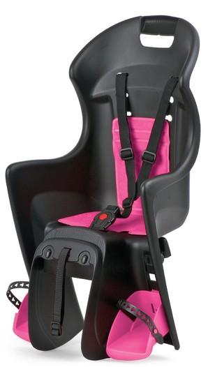Polisport 子ども乗せシート - ブーディー(後乗せキャリア取付けタイプ)ブラック×ピンク