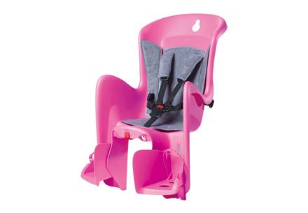 Polisport 子ども乗せシート - ビルビー (後乗せキャリア取付けタイプ) ピンク×グレー