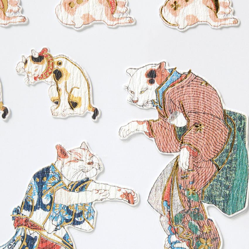 【DM便可】日本の美術 アートシール 猫シリーズ 歌川国芳筆