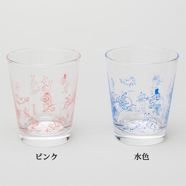 グラス(ピンク)〈国宝 鳥獣人物戯画〉