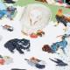 【DM便可】 日本の美術 アートシール (全5種)