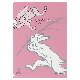 【DM便可】 A4クリアファイル 〈国宝 鳥獣人物戯画(猿追い/ピンク)〉