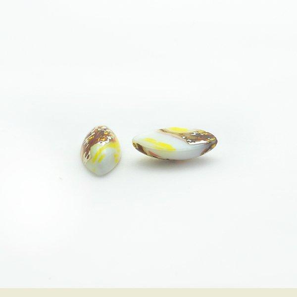 ハンドメイドカボションナベット15/7mm ホワイト