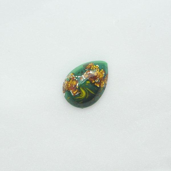 ハンドメイドカボションドロップ18/13mm グリーン