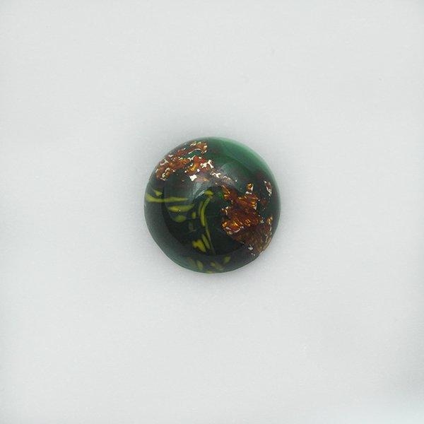 ハンドメイドカボションラウンド18mm グリーン