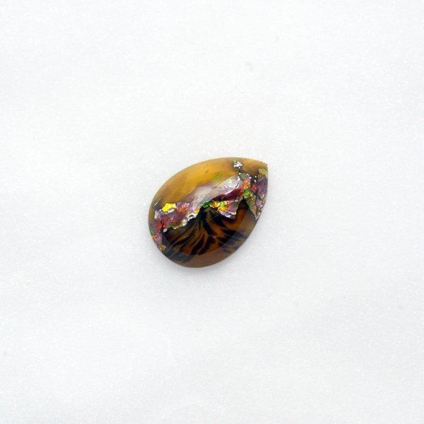 ハンドメイドカボションドロップ18/13mm ブラウン