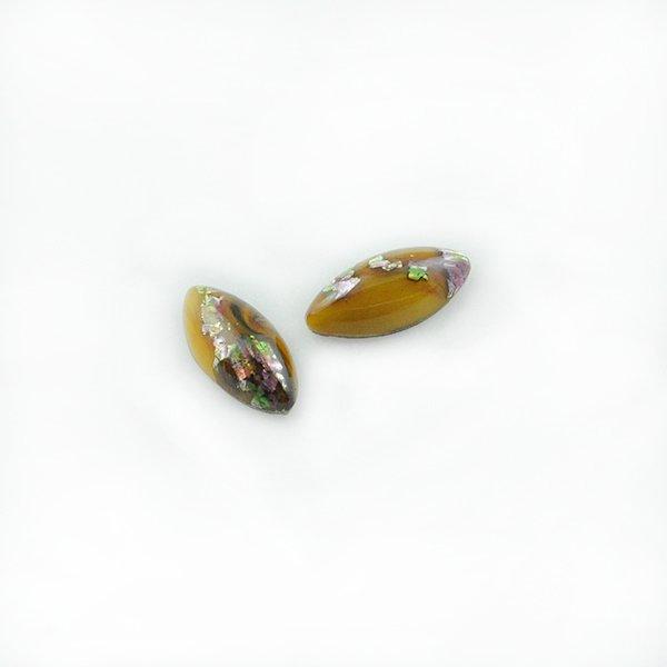 ハンドメイドカボションナベット15/7mm ブラウン
