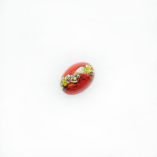 ハンドメイドカボションオーバル14/10mm レッド