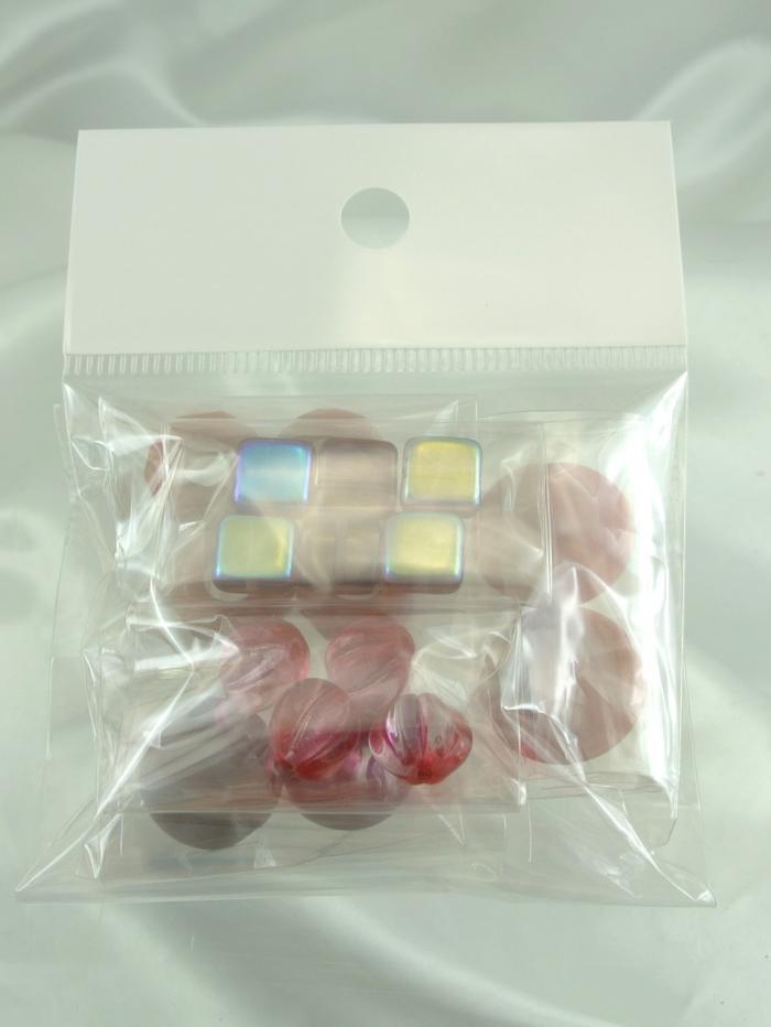 ボヘミアビーズの宝箱 ピンクパープルコンビ