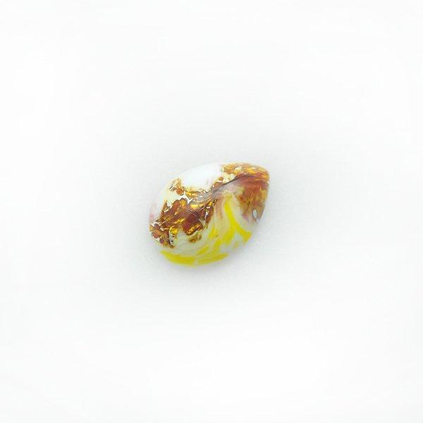 ハンドメイドカボションドロップ18/13mm ホワイト